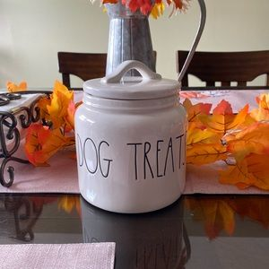 Rae Dunn Dog Treats and Woof Canisters set